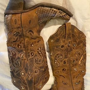 Corral vintage python leather boots